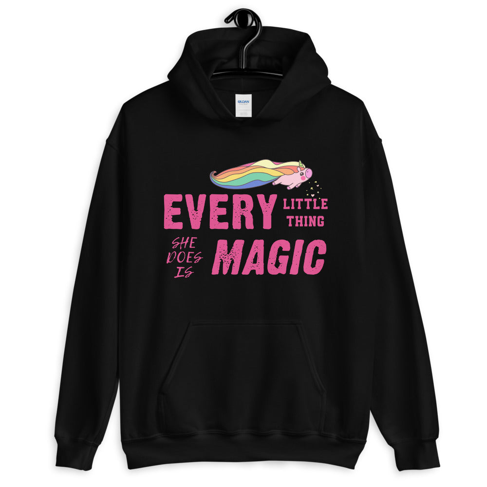 Every Little Thing She Does is Magic Cute Hoodie in White for Women
