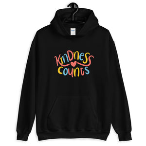 Kindness Counts Hoodie | White Inspirational Hooded Sweatshirt