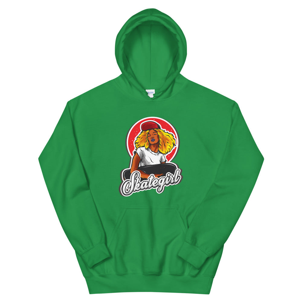 Skater Girl Hoodie | Green One Piece Skater Hooded Sweatshirt Women