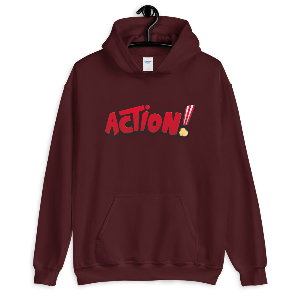 Action Hoodie | Cool Black Pullover Action Hoodie for Women