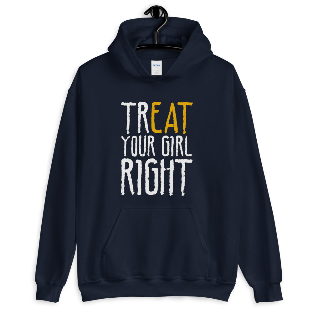 Treat Your Girl Right Green One Piece Pullover Hoodie for Women