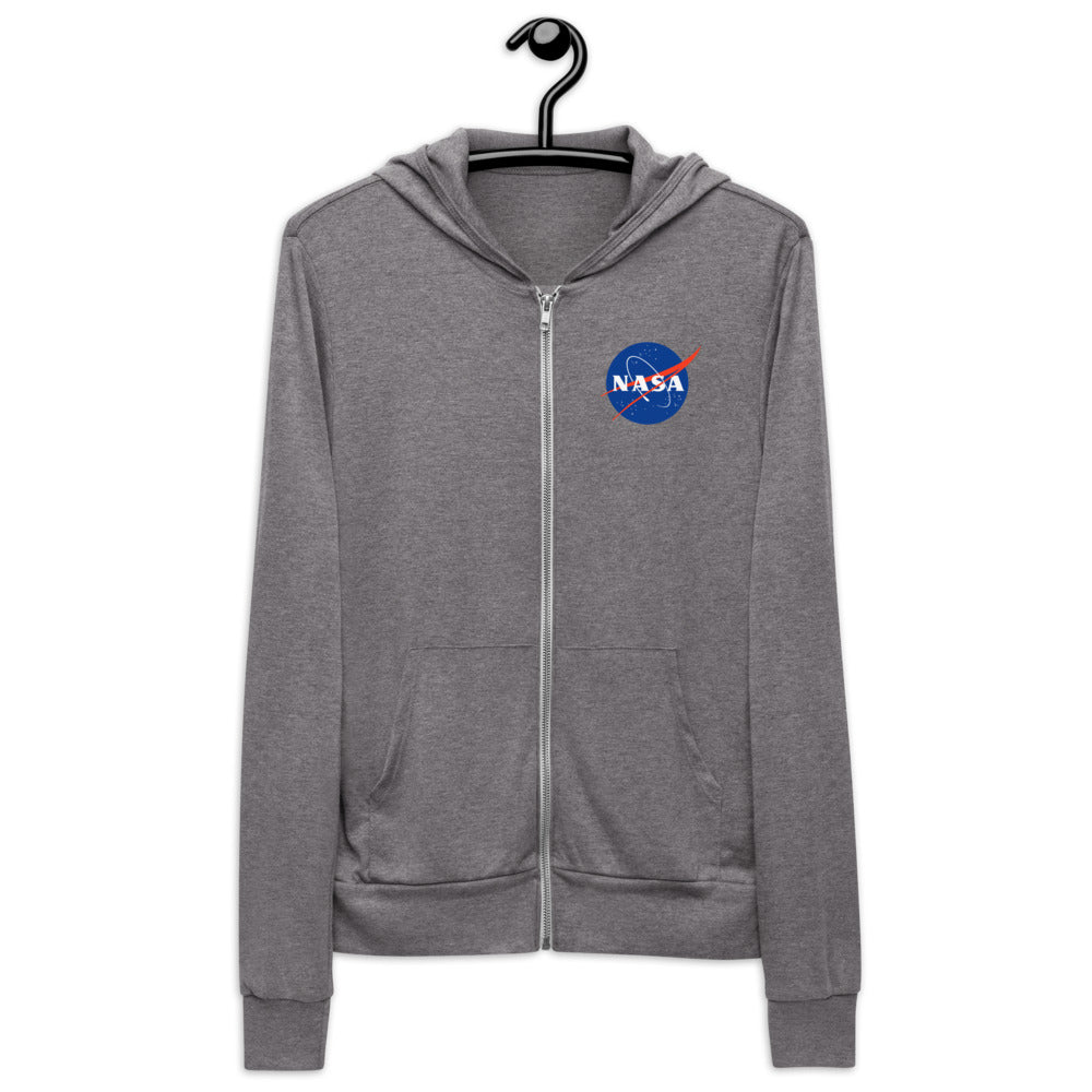Nasa Zip Up Hoodie | Black Nasa Full Front Zipper Hoodie Women