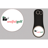 Soulful Golf Pitchfix Divot Tool Tin w/ Two Extra Ball Markers