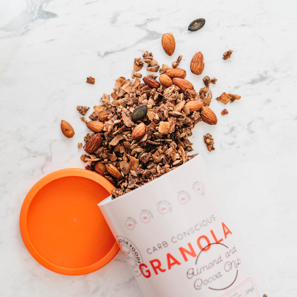 Load image into Gallery viewer, Carb Conscious Granola - Almond and Cocoa Nib