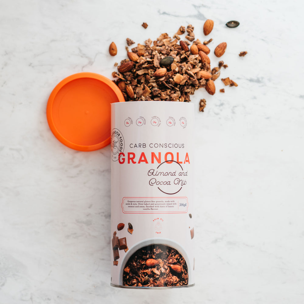 Carb Conscious Granola - Almond and Cocoa Nib
