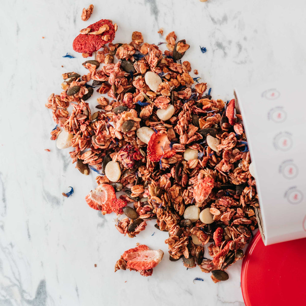 Load image into Gallery viewer, Strawberry and Macadamia Infused Granola