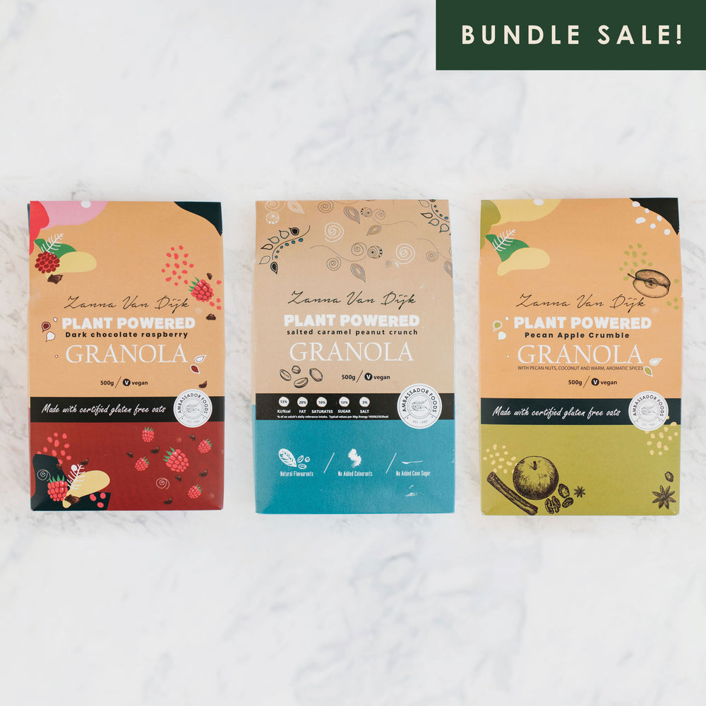 Load image into Gallery viewer, BUNDLE • 3x Plant Powered Granola by Zanna Van Dijk