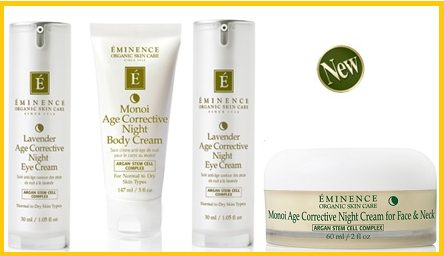 eminence,organics,argan stem cell complex, monoi,lavender,night cream,anti aging,age defying