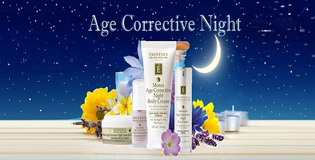 eminence,organic,age corrective,night,argan stem cell,anti aging, lavender,monoi,concentrae,eye cream,anti wrinkle