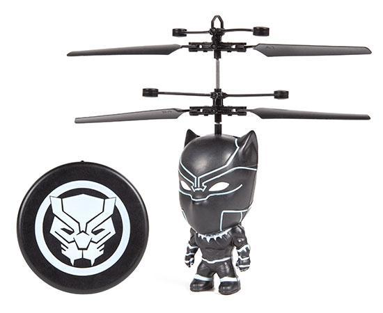 Marvel Licensed Black Panther 3.5 Inch Flying Figure IR UFO Big Head Helicopter-Big Head-Phooqy