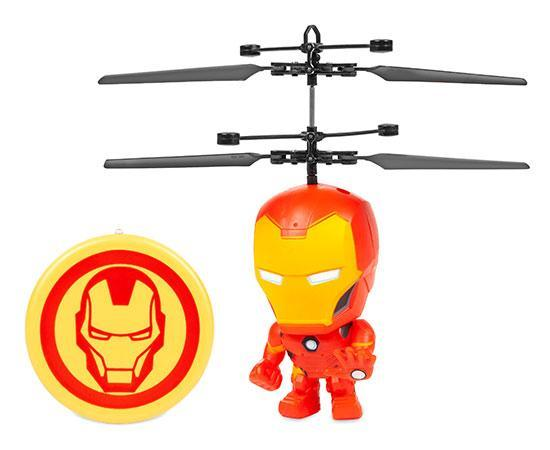 Marvel Licensed Iron Man 3.5 Inch Flying Figure IR UFO Big Head Helicopter-Big Head-Phooqy