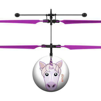 World Tech Toys Emoji Unicorn IR UFO Heli Bal-Heli Ball-Phooqy