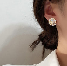 Load image into Gallery viewer, French Style Pearl Stud Earrings