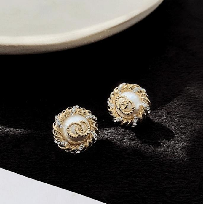 French Style Pearl Stud Earrings