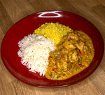 Shrimp Moqueca & Butter Farofa and Rice