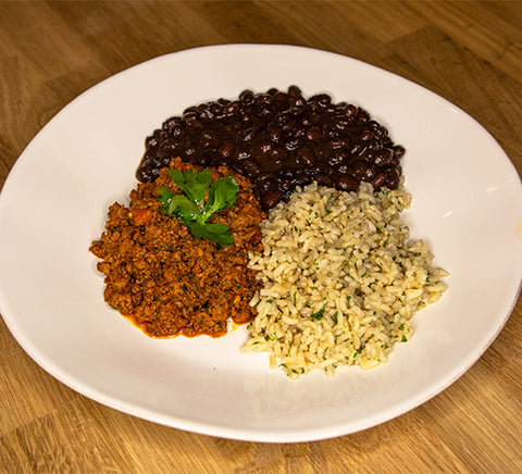 Ground Turkey with Brown Rice and Black Beans
