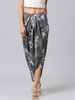 Grey Floral Printed Maxi Skirt