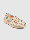 Women Beige & Orange Geometric Print Espadrilles
