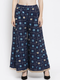 Women Navy Blue Printed Flared Palazzos