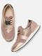 Women Pink & Gold-Toned Sneakers