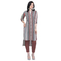 Lining up-down straight kurti