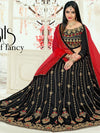 Attractive Black Color Tafeta Silk Embridered Work Lehenga Choli.