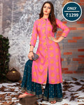 Exclusive Pink Kurta With Sharara