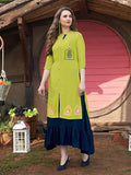 Exclusive Lime Green Layered Kurti