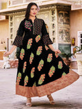 Awesome Black Bell Sleeves Kurta