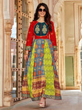 Warina Hussain Multi Colored Long Layered Kurti