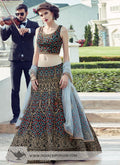 Amazing Designer Partywear Embroidered Lehenga .