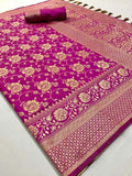 Impressive Pink Color Designer Saree