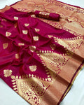 Fancy Maroon Color Designer Saree