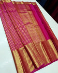 Latest Pink And Golden Color Designer Saree