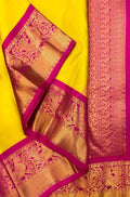 Latest Yellow Color Designer Saree