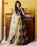 Royal Blue Embroidered Attractive Party Wear Lehenga.