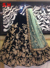 Amazing Black Designer Partywear Embroidered Tapeta Silk Lehenga Choli