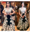 Amazing White N Black Colored Designer Party Wear Lehengha Choli.