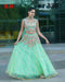 Designer C Green Tishu Net Embroidery Semi Stiched Lehenga Choli