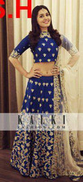 Blue multi Embroidered Work Attractive Banglory Lehenga Choli