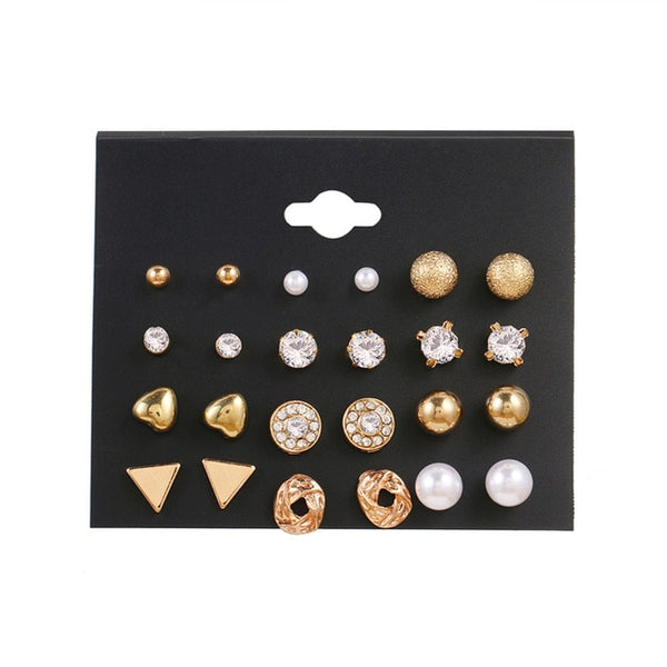 Minimalist Mixed Small Earrings Set - wow stylu