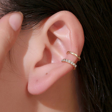 Punk Rock Geometric Ear Cuff - wow stylu