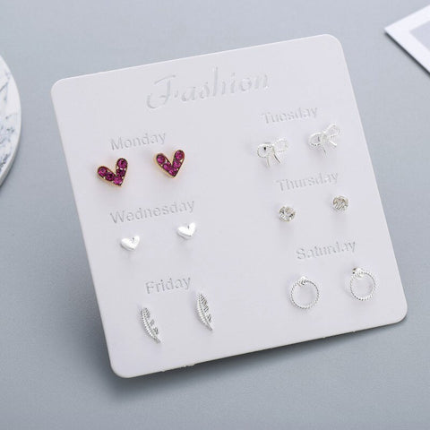 Women Heart Star Mini Earrings - wow stylu