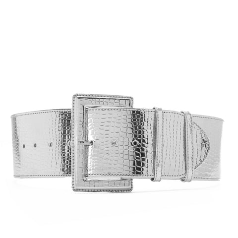 High waist Aluminum Belt Silver