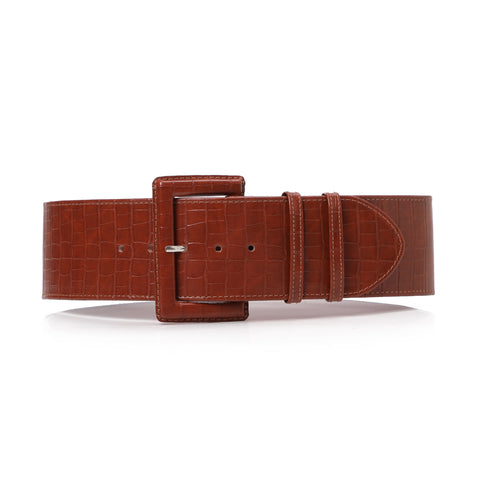 High waist Aluminum Belt Havane