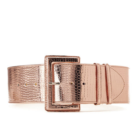 High waist Aluminum Belt Rose Gold