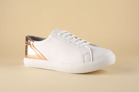 Sneaker white with back RoseGold