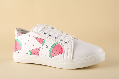 Sneaker White with Watermelon