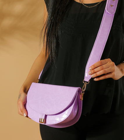 Lilac Corss bag with Handle