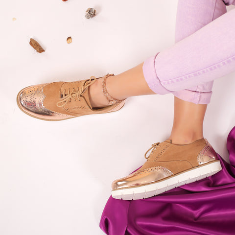 Wingtip Shoes Rose Gold